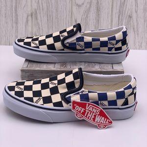 Vans Classic Slip-On (Big Check) Black/Navy